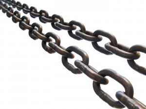 Two Metail Chain Links