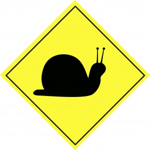yellow-snail-yield-sign